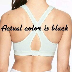 f0fad096e1672 Athleta Intimates   Sleepwear - Athleta Sheer Wrap Sports Bra Black Size M  NWT